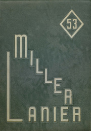 1953 Edition, Central High School - Miller Lanier Yearbook (Macon, GA)