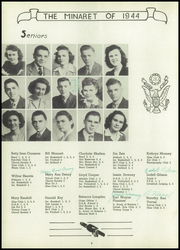 Page 10, 1944 Edition, Greencastle High School - Minaret Yearbook (Greencastle, IN) online yearbook collection