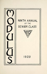 Page 9, 1920 Edition, Huntington North High School - Modulus Yearbook (Huntington, IN) online yearbook collection