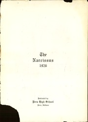 Page 5, 1926 Edition, Peru High School - Narcissus Yearbook (Peru, IN) online yearbook collection