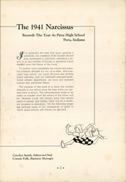 Page 7, 1941 Edition, Peru High School - Narcissus Yearbook (Peru, IN) online yearbook collection