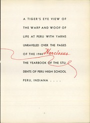 Page 9, 1944 Edition, Peru High School - Narcissus Yearbook (Peru, IN) online yearbook collection