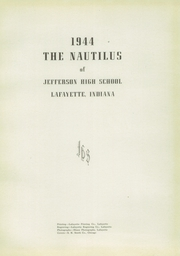 Page 5, 1944 Edition, Jefferson High School - Nautilus Yearbook (Lafayette, IN) online yearbook collection