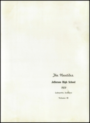 Page 5, 1959 Edition, Jefferson High School - Nautilus Yearbook (Lafayette, IN) online yearbook collection