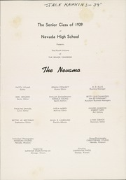Page 7, 1939 Edition, Nevada High School - Nevamo Yearbook (Nevada, MO) online yearbook collection