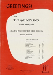 Page 5, 1960 Edition, Nevada High School - Nevamo Yearbook (Nevada, MO) online yearbook collection