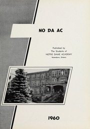 Page 5, 1960 Edition, Notre Dame Academy - No Da Ac Yearbook (Waterdown, Ontario Canada) online yearbook collection