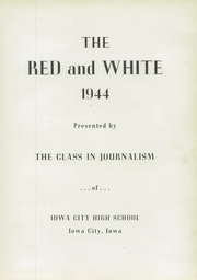 Page 7, 1944 Edition, Iowa City High School - Red and White Yearbook (Iowa City, IA) online yearbook collection