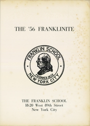 Page 5, 1956 Edition, Franklin School - Franklinite Yearbook (New York City, NY) online yearbook collection
