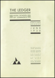 Page 5, 1930 Edition, Commerce High School - Ledger Yearbook (Portland, OR) online yearbook collection