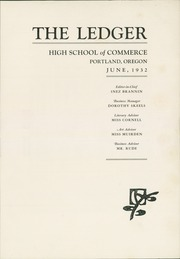 Page 5, 1932 Edition, Commerce High School - Ledger Yearbook (Portland, OR) online yearbook collection