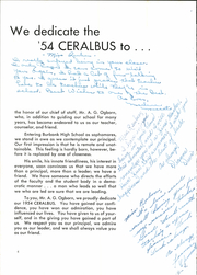 Page 8, 1954 Edition, Burbank High School - Ceralbus Yearbook (Burbank, CA) online yearbook collection