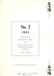 Page 7, 1931 Edition, Joliet Central High School - Steelmen Yearbook (Joliet, IL) online yearbook collection