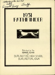 Page 5, 1931 Edition, Burlington Community High School - Pathfinder Yearbook (Burlington, IA) online yearbook collection