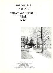 Page 5, 1963 Edition, Auglaize Brown High School - Oakleaf Yearbook (Oakwood, OH) online yearbook collection
