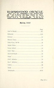 Page 11, 1929 Edition, Oakwood Collegiate Institute - Oracle Yearbook (Toronto Ontario, Canada) online yearbook collection