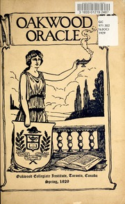 Page 5, 1929 Edition, Oakwood Collegiate Institute - Oracle Yearbook (Toronto Ontario, Canada) online yearbook collection