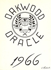 Page 5, 1966 Edition, Oakwood Collegiate Institute - Oracle Yearbook (Toronto Ontario, Canada) online yearbook collection