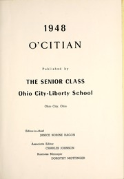 Page 7, 1948 Edition, Ohio City Liberty High School - O Citian Yearbook (Ohio City, OH) online yearbook collection