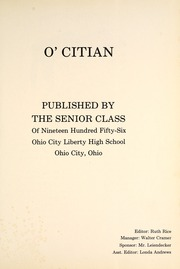 Page 5, 1956 Edition, Ohio City Liberty High School - O Citian Yearbook (Ohio City, OH) online yearbook collection