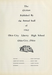 Page 7, 1962 Edition, Ohio City Liberty High School - O Citian Yearbook (Ohio City, OH) online yearbook collection