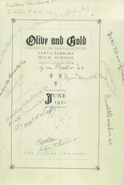 Page 7, 1920 Edition, Santa Barbara High School - Olive and Gold Yearbook (Santa Barbara, CA) online yearbook collection