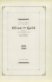 Page 11, 1924 Edition, Santa Barbara High School - Olive and Gold Yearbook (Santa Barbara, CA) online yearbook collection