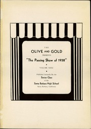 Page 5, 1938 Edition, Santa Barbara High School - Olive and Gold Yearbook (Santa Barbara, CA) online yearbook collection