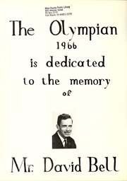 Page 6, 1966 Edition, Grantham High School - Olympian Yearbook (St Catharines, Ontario Canada) online yearbook collection
