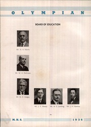 Page 8, 1936 Edition, Marietta High School - Olympian Yearbook (Marietta, GA) online yearbook collection
