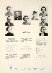 Page 12, 1939 Edition, Marietta High School - Olympian Yearbook (Marietta, GA) online yearbook collection