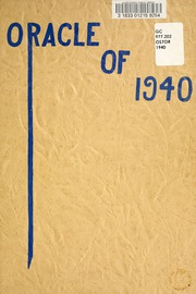 Page 5, 1940 Edition, Ossian High School - Oracle Yearbook (Ossian, IN) online yearbook collection