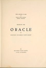 Page 7, 1948 Edition, Ossian High School - Oracle Yearbook (Ossian, IN) online yearbook collection