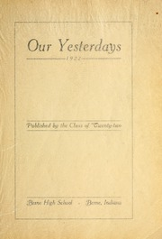 Page 7, 1922 Edition, Berne French Township High School - Our Yesterdays Yearbook (Berne, IN) online yearbook collection