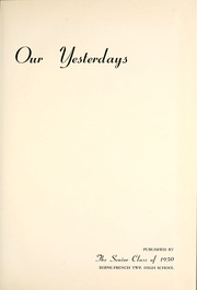 Page 5, 1950 Edition, Berne French Township High School - Our Yesterdays Yearbook (Berne, IN) online yearbook collection