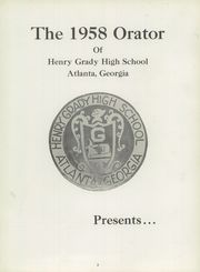 Page 7, 1958 Edition, Henry Grady High School - Orator Yearbook (Atlanta, GA) online yearbook collection