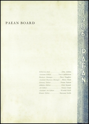 Page 7, 1936 Edition, Battle Creek Central High School - Paean Yearbook (Battle Creek, MI) online yearbook collection