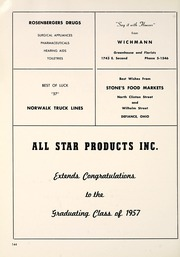 Page 148, 1957 Edition, Defiance High School - Panorama Yearbook (Defiance, OH) online yearbook collection