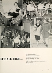 Page 9, 1957 Edition, Defiance High School - Panorama Yearbook (Defiance, OH) online yearbook collection