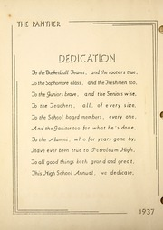 Page 14, 1937 Edition, Petroleum High School - Panther Yearbook (Petroleum, IN) online yearbook collection