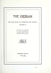 Page 11, 1920 Edition, Richmond High School - Pierian Yearbook (Richmond, IN) online yearbook collection