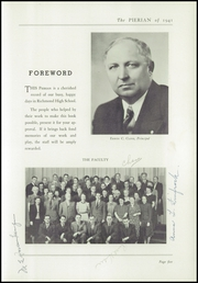 Page 7, 1941 Edition, Richmond High School - Pierian Yearbook (Richmond, IN) online yearbook collection