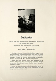 Page 14, 1946 Edition, Richmond High School - Pierian Yearbook (Richmond, IN) online yearbook collection
