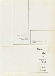 Page 5, 1968 Edition, Sequoyah High School - Phoenix Yearbook (Atlanta, GA) online yearbook collection