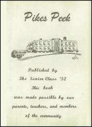 Page 5, 1952 Edition, Pike High School - Pikes Peek Yearbook (Indianapolis, IN) online yearbook collection