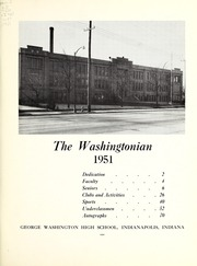 Page 3, 1951 Edition, George Washington High School - Post Yearbook (Indianapolis, IN) online yearbook collection