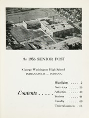 Page 5, 1956 Edition, George Washington High School - Post Yearbook (Indianapolis, IN) online yearbook collection