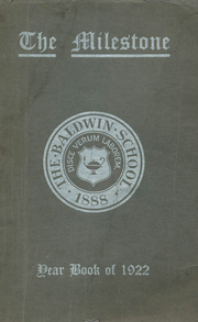1922 Edition, Baldwin School - Prism Yearbook (Bryn Mawr, PA)