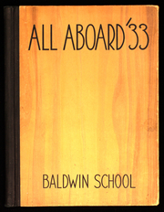 1933 Edition, Baldwin School - Prism Yearbook (Bryn Mawr, PA)