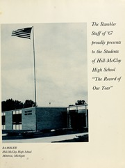 Page 5, 1967 Edition, Hill McCloy High School - Rambler Yearbook (Montrose, MI) online yearbook collection